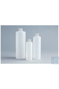 HDPE Cylinder Round Bottles 125mL Case of 500 Unprocessed 24-410mm HDPE...