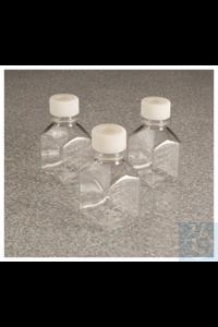 Nalgene™ Quadratische Medienflaschen aus PETG mit Septumverschluss:...