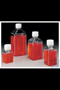 Nalgene™ Square PET Media Bottles with Closure: Sterile, Shrink-Wrapped...