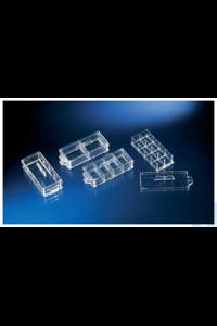 Nunc™ Lab-Tek™II Kammerdeckglas 2-well Chambered Coverglass w/ non-removable wells...