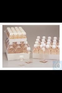 Nalgene™ quadratische PETG-Medienflaschen mit Verschluss: Nicht steril,...
