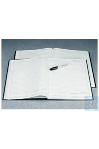 Nalgene™ Lab Notebooks with PolyPaper™ Pages 0.25 in. grid; Black polyethylene...