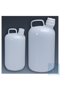 Nalgene™ Polypropylen-Kannen mit Verschluss, 4l 4l Case of 6 38–430mm Nalgene™...