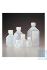 Nalgene™ Quadratische Flaschen (PP) 500ml Case of 48 38–430mm