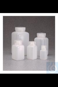 Nalgene™ quadratische HDPE-Weithalsflaschen mit Verschluss 60ml Case of 72 28mm Nalgene™...