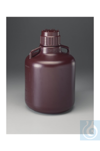 Nalgene™ Amber HDPE Carboy 10l Case of 6 83B Nalgene™ Amber HDPE...