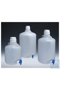 Nalgene™ Autoclavable Polypropylene Carboy with Spigot 83B 20L Case of 4 Nalgene™...