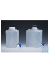 Nalgene™ Rectangular Autoclavable PPCO Carboys with Spigot 100mm 20L Case of 4...