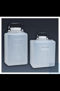 Nalgene™ Vierkant-Kanister, Polypropylen, PP-Schraubverschluss 20l Case of 4 100–415mm...