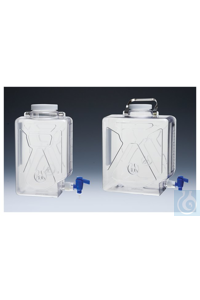 Nalgene™ Clearboy™ Kanister mit Hahn, Polycarbonat 9 l Case of 6 100 mm...