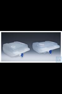 Nalgene™ Autoklavierbare Flachkanister aus Polypropylen-Copolymer (PPCO) mit Hahn 8L Case of 4...