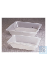 Nalgene™ Autoclavable Polypropylene Pans 10.25 x 6.25 x 2.5 in. (260 x 159 x 64mm) 2L (1.8...