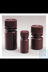 Nalgene™ Diagnostikflaschen mit Verschluss; braunes HDPE, Großpackung...