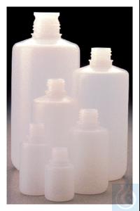 Nalgene™ Boston Round HDPE Bottles without Closure: Bulk Pack 30mL Case...