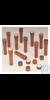 Nalgene™ Braunglas-PPCO-Verschlüsse mit hohem Profil und Farbcodes für...