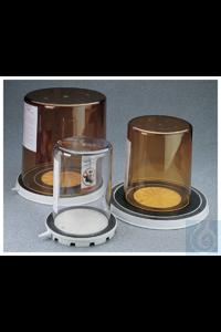 Nalgene™ Vakuumkammer Each Braune Glocke aus PEI, abgedichtet durch eine Vakuumplatte aus weißem...