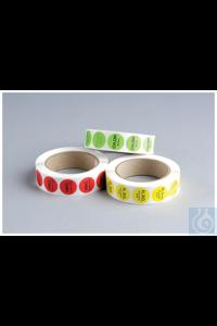Color-coded Sample Alert Labels Sulfuric Acid Yellow 1,000 - Color-coded Sample Alert Labels...