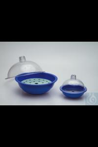 Nalgene™ autoklavierbare Polypropylen-Exsikkatoren: Blaues Unterteil und durchsichtige...