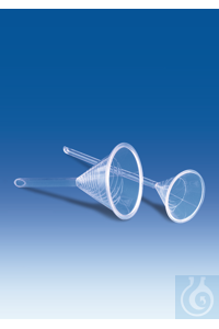 Urbanti funnel, PMP, Ø 51 mm, length 195 mm, stem Ø 3 mm