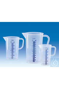 Graduated pitcher, PP, raised blue embossed scale, 1000 ml