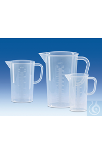 Graduated pitcher, PP, raised scale, 1000 ml