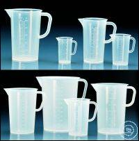 Graduated pitcher, PP, raised scale, 100 ml