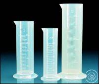 Volumetric cylinder, PP, class B, short form, raised scale, 250 ml
