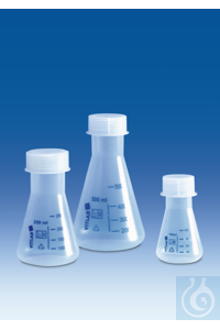 Sale Erlenmeyer flask, PP, wide-mouth, with screw cap, PP, GL 52, 1000 ml