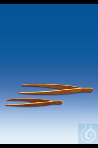 Pinzette, POM, gelb, stumpf, elastisch, Länge 115 mm