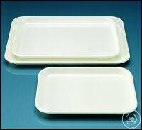 Instrument tray, MF, white, 190 x 150 x 17 mm