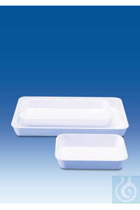 Instrument tray, deep, MF, white, 340 x 245 x 100 mm