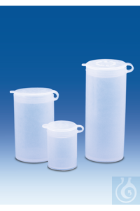 Sample vial, PE-LD, with attached snap-on lid, PE-LD, 8 ml