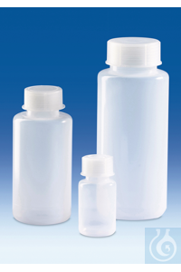3Artículos como: Wide-mouth bottle, PE-LD, with screw cap, PP, 100 ml Wide-mouth bottle,...