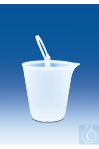 Bucket with spout, PP, transparent, graduated, without lid, 12 l