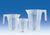 Maatbeker stapelbaar, PP, opgedrukte blauwe schaalverdeling, 2000 ml, naargelang verkoop wordt...