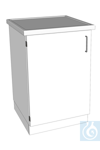 laboratory bench L640/T900 composite ceramics dimension: 640x900x900 mm (LxTxH) body melamine,...