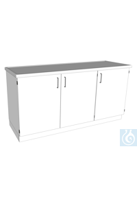 laboratory bench L1800/T600 PP dimension: 1800x600x900 mm (LxTxH) body melamine, worktop PP,...