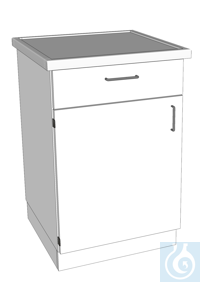 laboratory bench made of stainless steel L640/T600 dimension: 640x600x900 mm (LxTxH) body and...