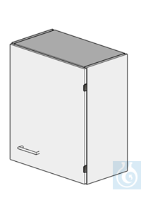wall cupboard L600/H700  dimension: 600x320x700 mm (LxTxH)  one door (hung right) with one...
