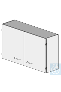 wall cupboard L1200/H700  dimension: 1200x320x700 mm (LxTxH)  cabinet with partition panel, two...