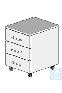 cabinet on castors L400/H550  dimension: 400x470x550 mm (LxTxH)  cabinet with four damped drawers...