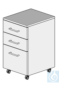 cabinet on castors L400/H700  dimension: 400x470x700 mm (LxTxH)  cabinet with four damped drawers...