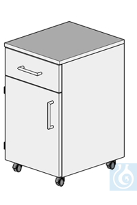 cabinet on castors L400/H700  dimension: 400x470x700 mm (LxTxH)  one damped drawer and one door...
