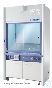 Laborabzug 1045x830x2750 mm (LTH), Interieur HPL, Arbeitsplatte Keramik Laborabzug 1045x830x2750...