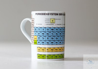 Laboratory mug with periodic table made of porcelain (Freiberger Porzellan), dishwasher proof