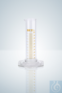 Measuring cylin. DURAN®,cl.B, amber grad, low form, 10:1 ml Measuring cylinder DURAN®, class B,...