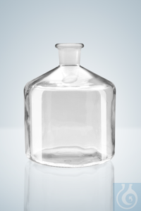 Reservoir bottles for automatic burettes, 2000 ml, NS 29/32, clear glass Reservoir bottles for...