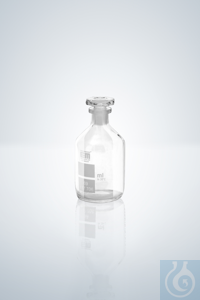 Oxygen bottles, white grad.,  200 - 300 ml, H 135 mm, NS 19/26 Oxygen...