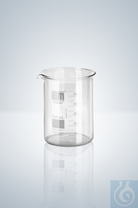 12Artikelen als: Beakers, low form, white graduation, 25 ml, with graduation and spout...