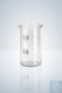 6Articles like: Beakers, tall form, white graduation,  600 ml, with graduation and spout...